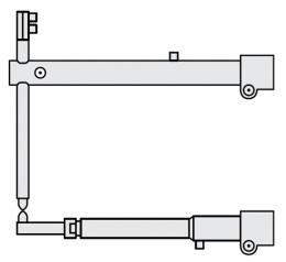 FUBAG Плечи O 40 х 700мм прямые c тонким нижним плечом для серии RS