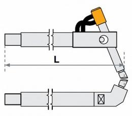 FUBAG Верхнее плечо наклонное O 22 х 125мм для серии SG 4-6