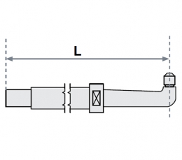 FUBAG Нижнее плечо O 30 х 200мм прямое с уменьшенным электрододержателем для SG 8-12-18-25
