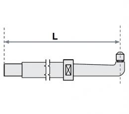 FUBAG Нижнее плечо O 30 х 400мм прямое с уменьшенным электрододержателем для SG 8-12-18-25