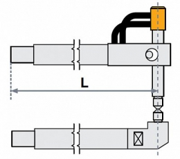 Верхнее плечо прямое O 30 х 400мм для серии SG 8-12-18-25
